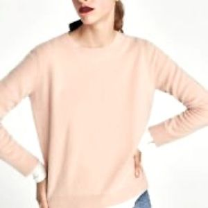 NWT Zara basic knit dusty rose sweater